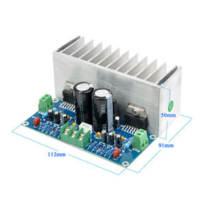 Image 2 - TDA7293 ses amplifikatörü Kurulu 100Wx2 Dijital Stereo güç amplifikatörü Kurulu Heatsink Çift AC12 32V