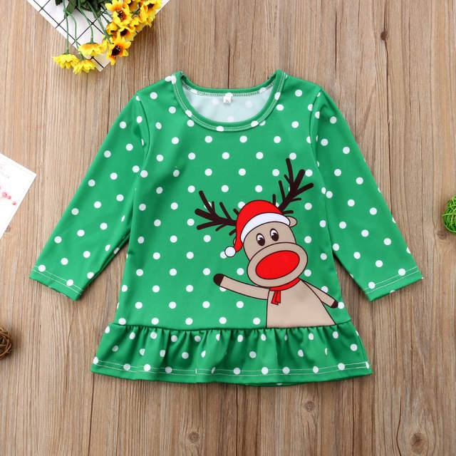 f2135da3857ca Detail Feedback Questions about Little Girls Xmas Elf Mini Dress ...
