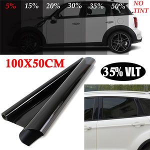50*100cm Car Home/Office Glass Window Black Tint Film Sunshade Sticker