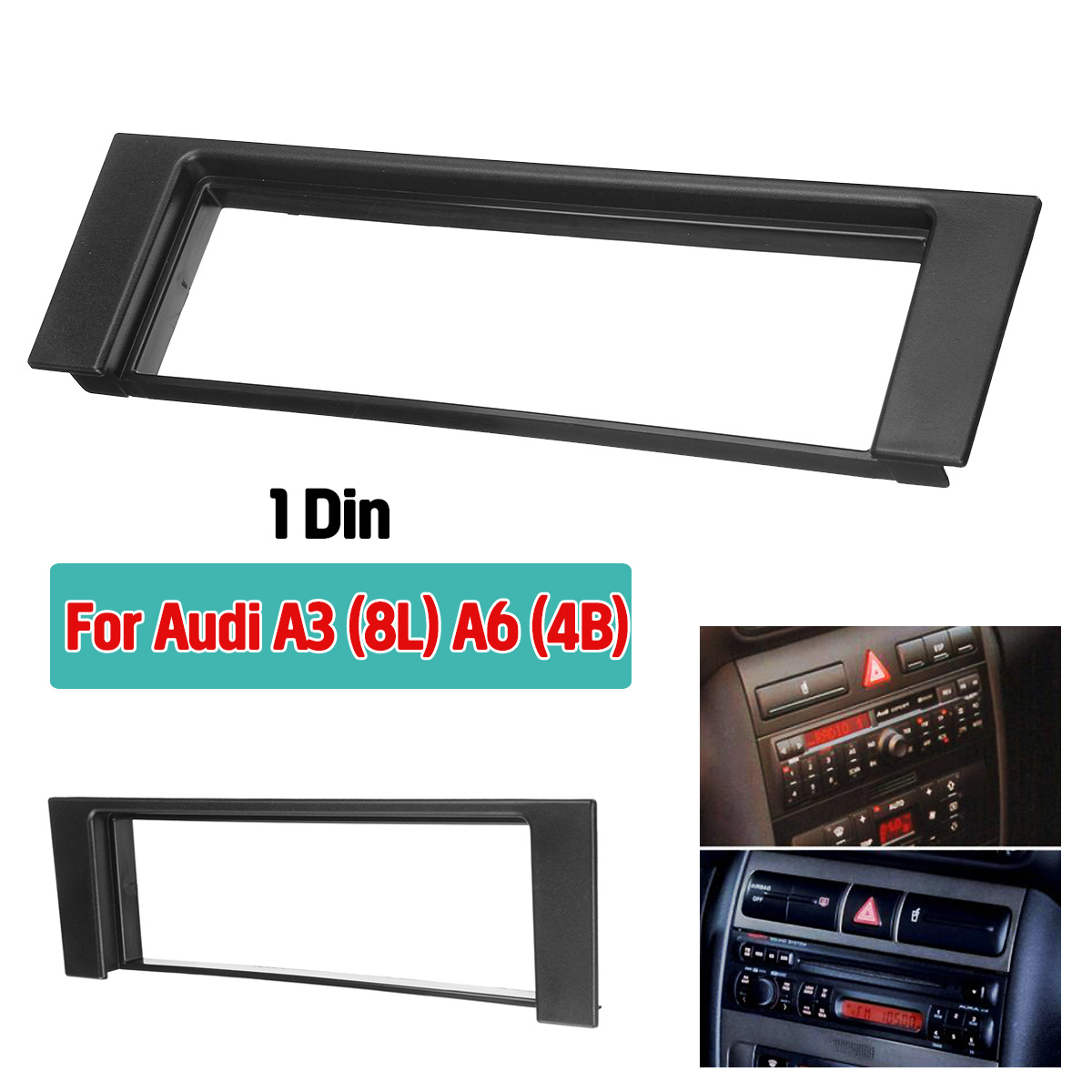 Car Fascia Stereo Audio Radio Plate Panel Dash Frame Fascias Replacement For <font><b>Audi</b></font> A3 8L <font><b>A6</b></font> 4B Fiat Scudo For Seat Toledo Leon image