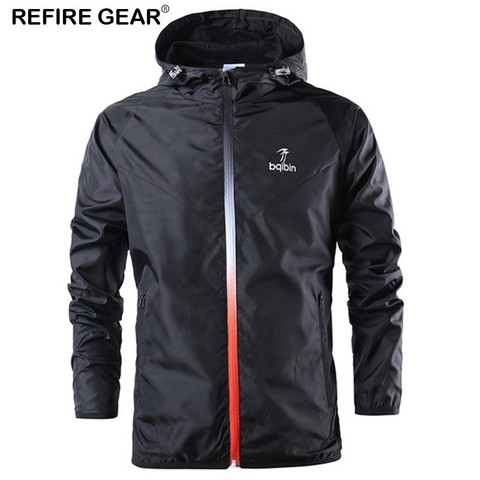 Refire Gear Spring Summer Outdoor Jackets Outerwear Windbreaker Men Thin Jackets Hooded Casual Sporting Fashion Coat Big Size Pakistan
