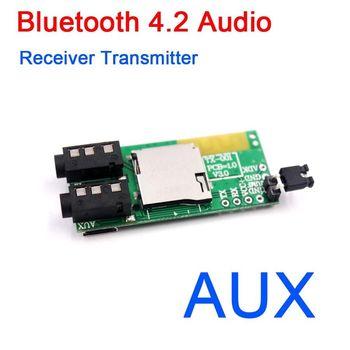Bluetooth 4.2 Audio Receiver Transmitter Receptor AUX TF Card Decoder MP3 player фото