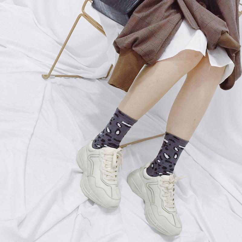 Autumn and winter fashion leopard socks casual Harajuku creative personality retro warm women 39 s socks cotton accessories in Socks from Underwear amp Sleepwears