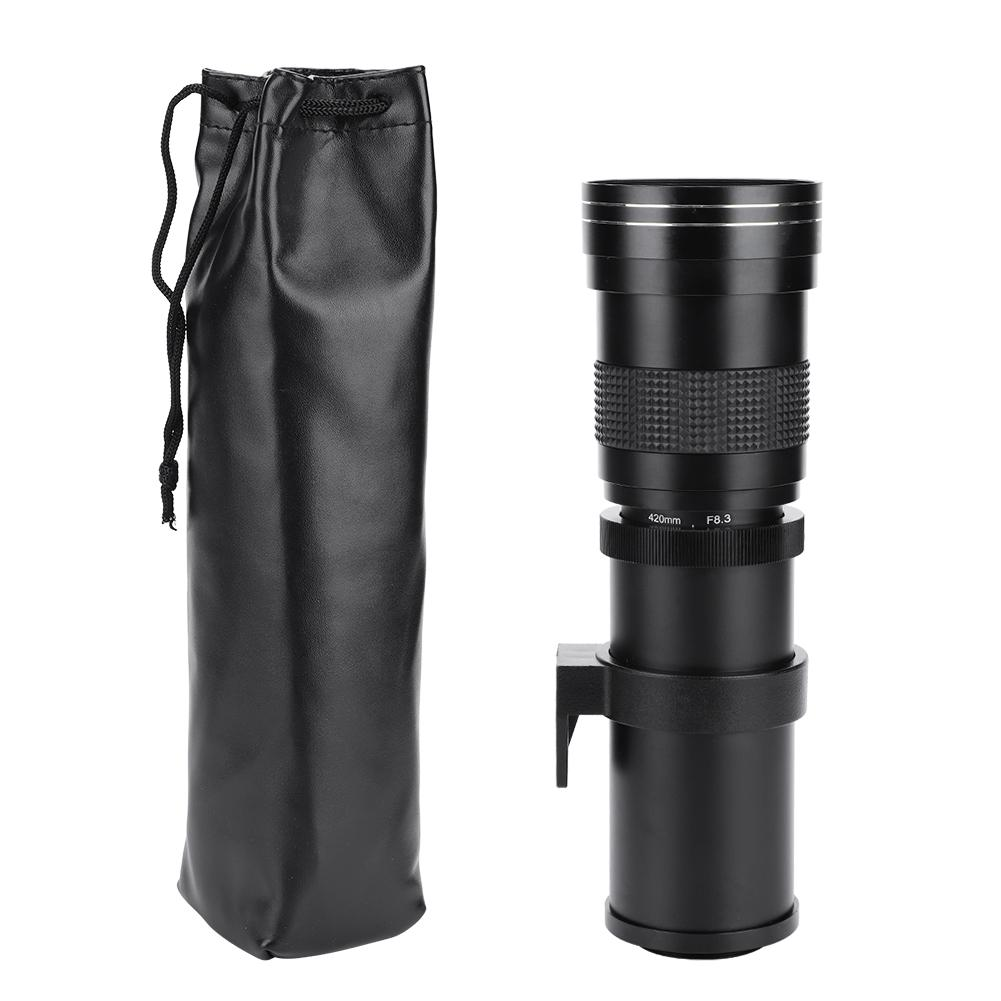 420-800mm F/8.3-16 Telephoto Lens Manual Zoom Lens For Canon For Nikon For Sony For Pentax DSLR Camera Adapter Ring