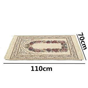 Image 3 - 110*70CM Muslim Prayer Rug Carpet Mat Ramadan Eid Gift Cotton Kneeling Carpet Yoga Mat Turkish Islamic Bedroom Home Decor