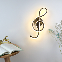 Treble Clef Wall Lamp