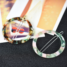 Girls headwear boutique round hair barrette cute clip pin fashion accessories for women