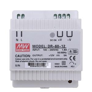 Image 2 - Din rail power supply 60w 12V ac dc converter dr 60 12 power supply 12v 60w good quality
