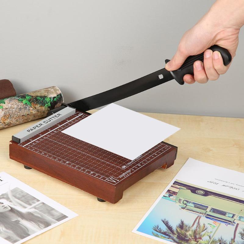 Wood Base A5/B5 Paper Guillotine Trimmer DIY Scrapbook Photo Cutter Home Office School Paper Photo Cutting Trimmer Machine Tools