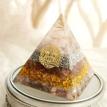 Radiation Protection Orgonite Energy Pyramid Resin Decorative Craft Jewelry Energy Converter Bring Good Luck