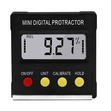 360 Degree Mini Digital Protractor Inclinometer font b Electronic b font Level Box Magnetic Base Measuring