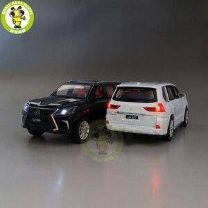 Image 3 - JACKIEKIM modelo de coche fundido a presión LX570 SUV, juguetes para niños, iluminación de sonido, coche extraíble, regalos para chico y Chica, 1/32