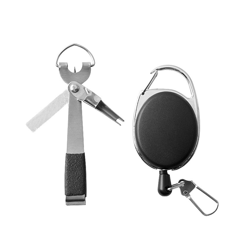 Portable Stainless Steel Fishing Use Scissors Accessories With Keychain Cut Fishing Line Tether Combo Hooks Remover