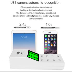 Image 5 - universal 8 ports smart USB charger Led display 8A multiple wall adapter HUB adapter socket for mobile phone tablet PC camera