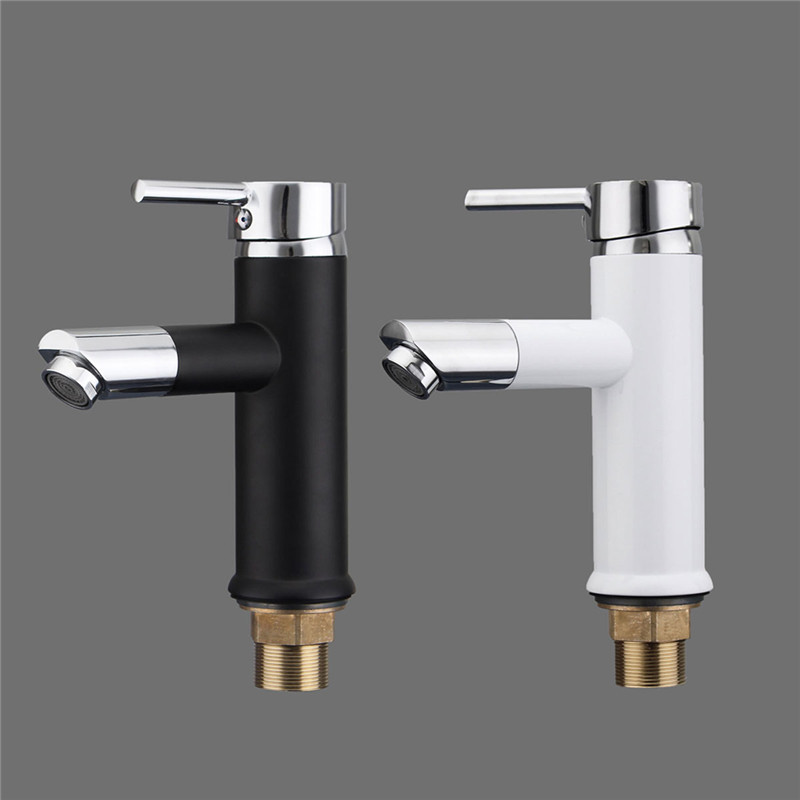 Modern Style 2 Holes Rotating Faucet Copper Water Tap Basin Kitchen Bathroom Wash Basin Faucet