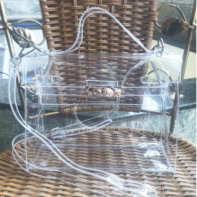 Hot Luxury Handbags Women Bags Designer Jelly Bag Pvc Transparent Bag Cross Shoulder Bag For Women Bolsos Mujer Sac A Main