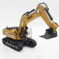 Huina 1331 1/18 2.4g rc carregável escavadeira elétrica modelo de engenharia escavação brinquedos