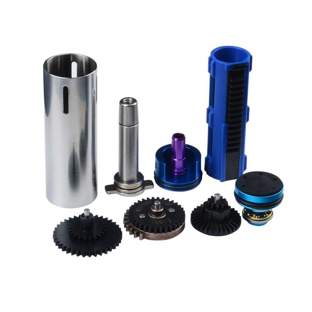 Paintball Hunting Army Accessories Upgrade Kits High Speed Torque Gears Ported Solid Cylinder Piston Silent Mushroom Head Ver.3