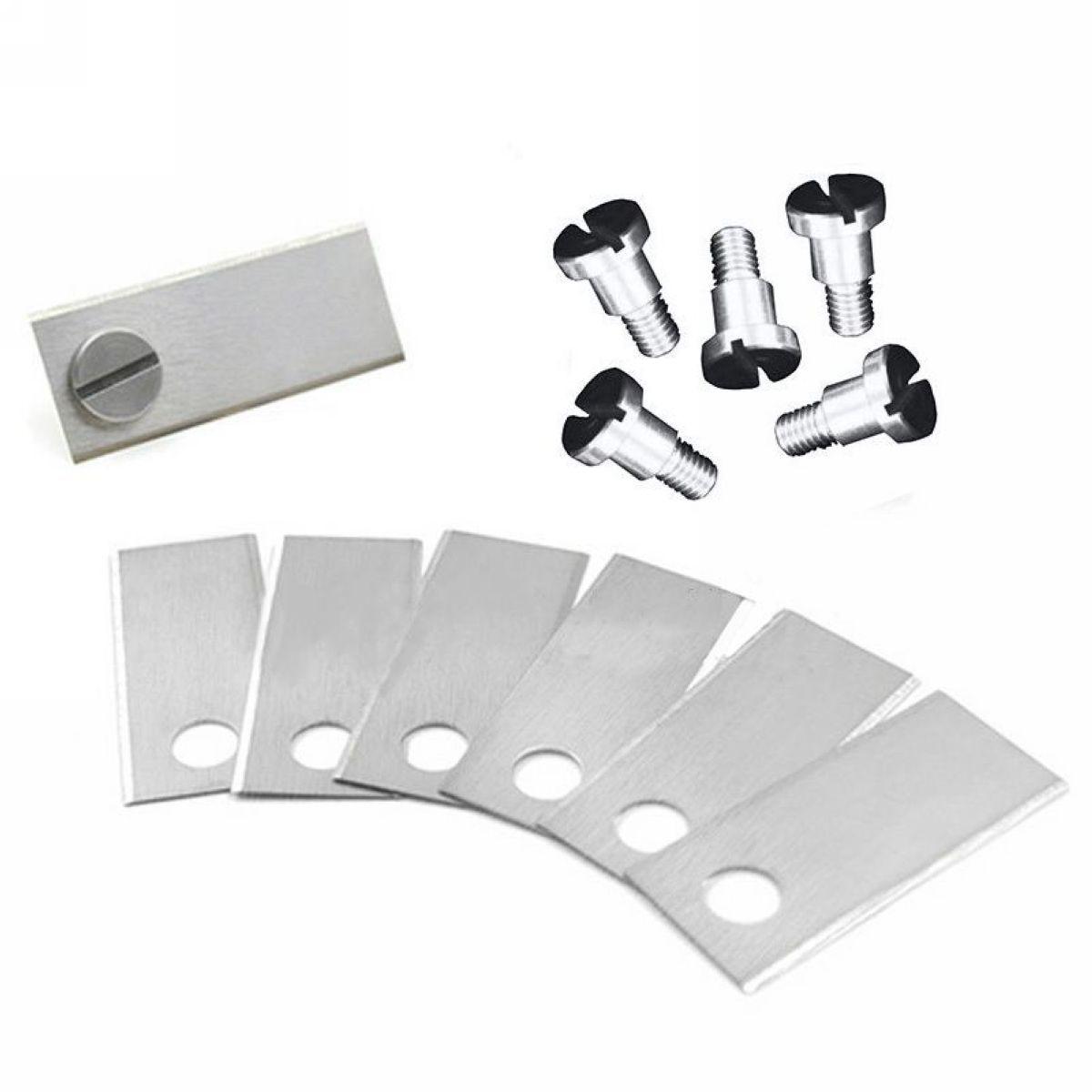 36PCS/set Auto Robot Mower Blade Lawnmower Blades & Screws 42*17.5*o.6mm Silver Tool accessories