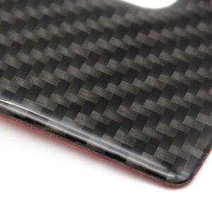 Image 4 - Dla Mercedes Benz klasy C W205 C180 C200 C300 GLC260 4 sztuk z włókna węglowego przełącznik okna samochodu pokrywa na podłokietnik samochodowy