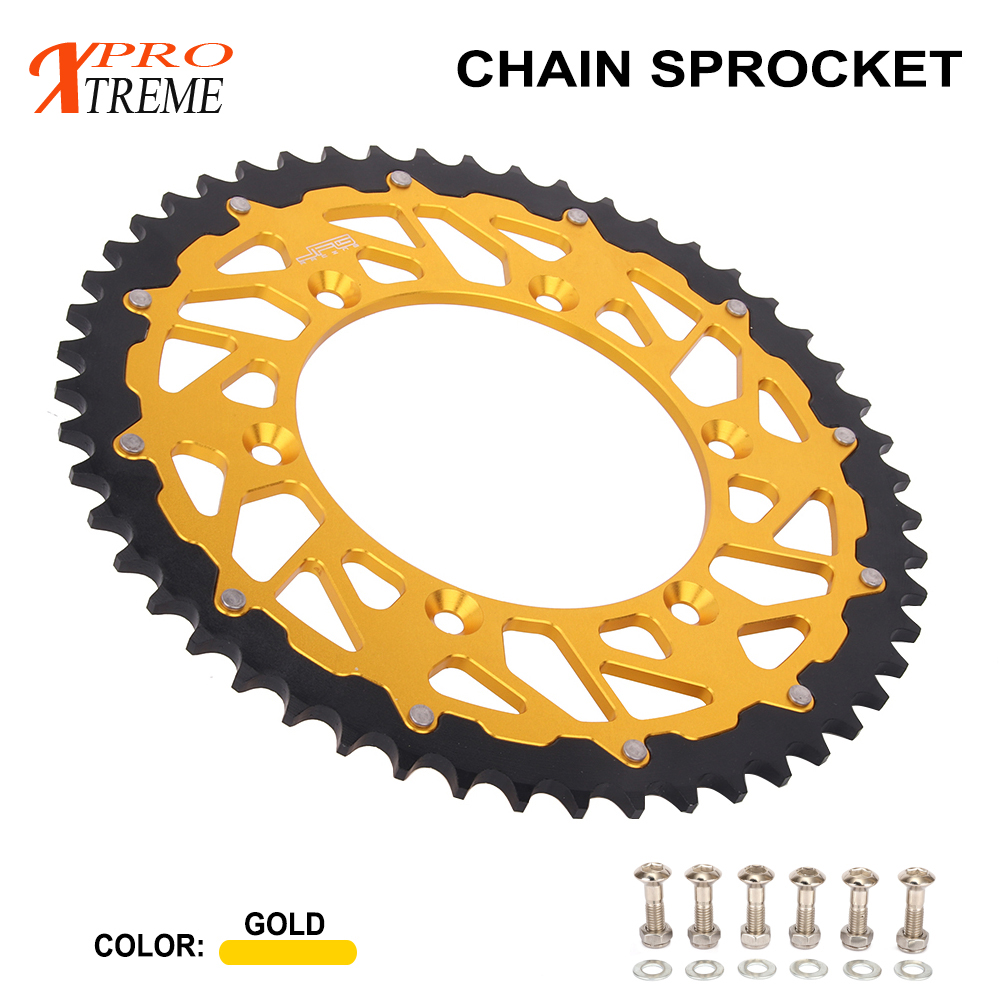 Motorcycle 42 44 46 47 49 50 51 52 Rear Chain Sprocket For SUZUKI TSR DR DRZ RM RMX RS 125 200 250 350 400 450 RM125 RM250 E/SM-in Chain Sets from Automobiles & Motorcycles    1