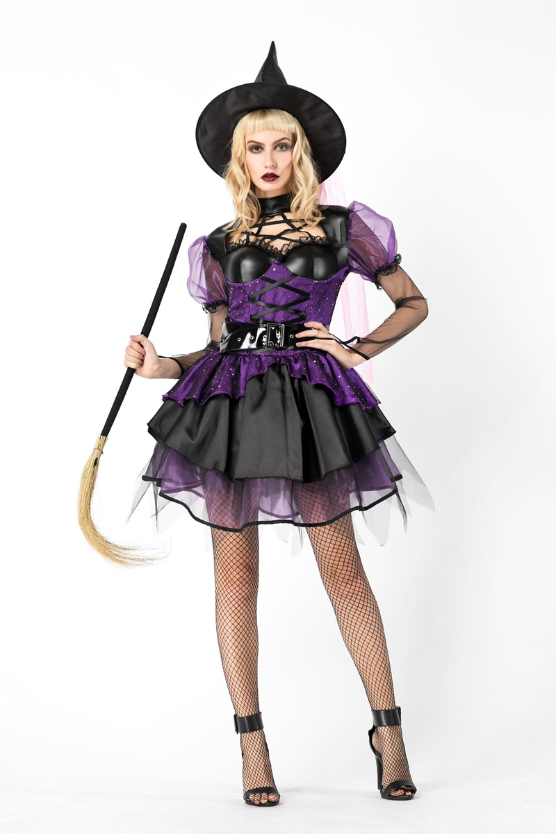 Sexy Woman Witch Cosplay Costume Gothic Halloween Party Fantasia Fancy Carnival Dress Vampire Uniform