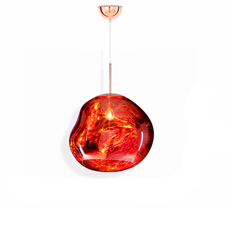 Ceiling Lights & Fans Modern Led Pendant Lamps D20/28/40cm Tom Dixon Melt Pendant Lights Acrylic/glass Lava Irregular Copper Mirror Living Room Avize Pretty And Colorful