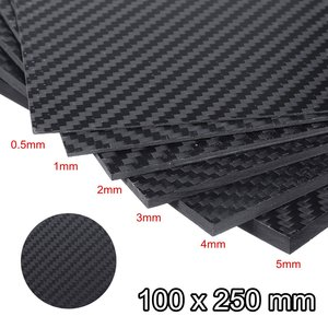 0.5-5MM 100X250 mm 3K Matte Surface Twill Carbon Plate Panel Sheets High Composite Hardness Material Anti-UV Carbon Fiber Board(China)