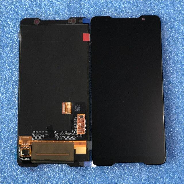 """Axisinternational для 6,0 """"ASUS ROG Phone ZS600KL ЖК-экран + сенсорная панель дигитайзер для ZS600KL AMOLED дисплей в сборе"""