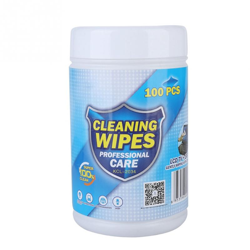 100PCS Screen Disinfecting Cleaning Wipes Tablets Laptop NoteBook Cleaning Wipes(China)
