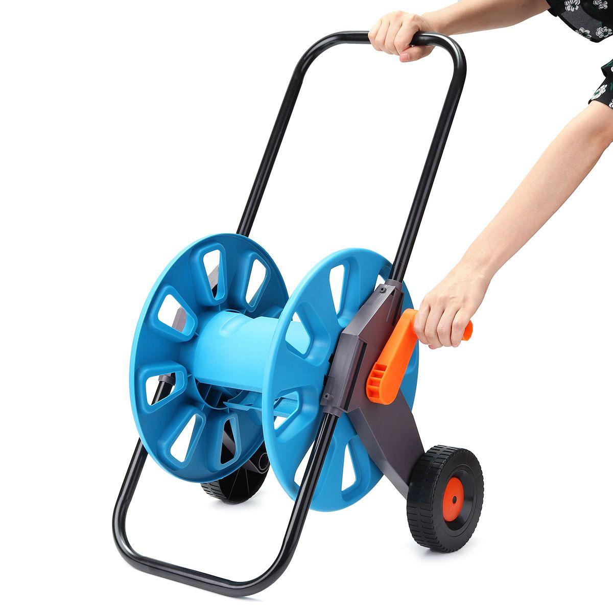 Blue Portable Garden Water Hose Pipe Rack Garden Watering Trolley Car Washing Truck Hose Waterpipe Cart