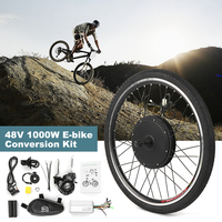 26x1.75'' Electric Bike Conversion Kit 1000W 48V Powerful Ebike Rear Wheel Brushless Controller Hub Electric Motor Wheel Kit