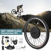 26x1.75'' Electric Bike Conversion Kit 48V 1000W Powerful Ebike Rear Wheel Brushless Controller Hub Electric Motor Wheel Kit