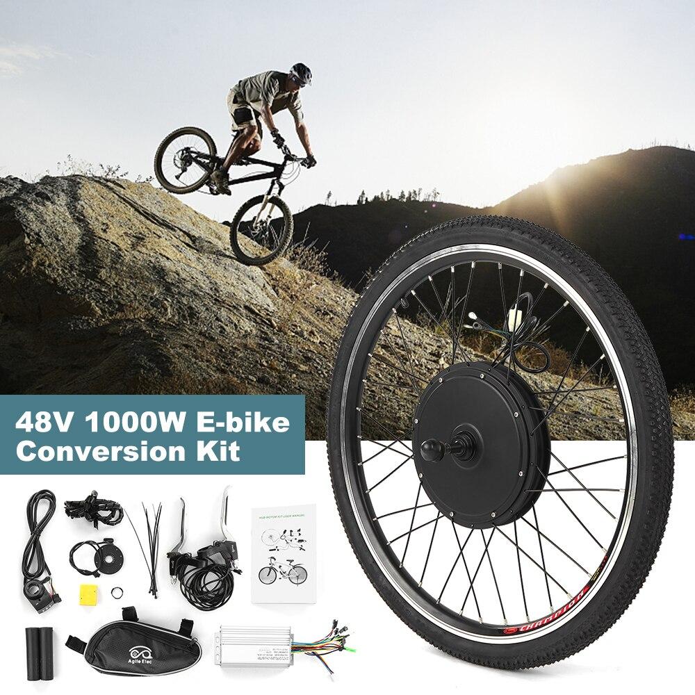 26x1.75 ''Kit de Conversion de vélo électrique 48 V 1000 W puissant Ebike roue arrière sans brosse contrôleur Hub moteur électrique Kit de roue
