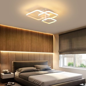 Image 4 - New LED Ceiling Light For Living Room Dining Bedroom Dimmable With Remote  White Coffee Frame Lighting Fixture Lamparas De Techo