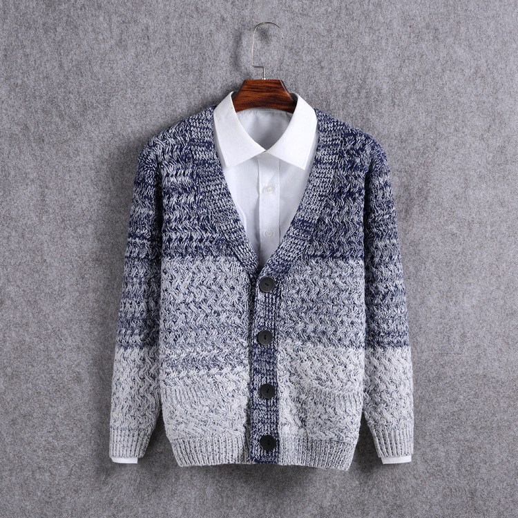 #1333 Männer Pullover Mode Strickjacke Homme Einreiher Gestrickte Mantel Pullover Strickjacke Männer V-ausschnitt Pull Homme M-xxl