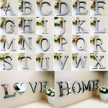 3D DIY Wall Stickers Acrylic Mirror Wall Sticker Alphabet English letters Home Decoration Creative Personality Special Decor mirror wall stickers sticker room decoration home decor kids for bedroom variety fonts name letters alphabet customizable r242