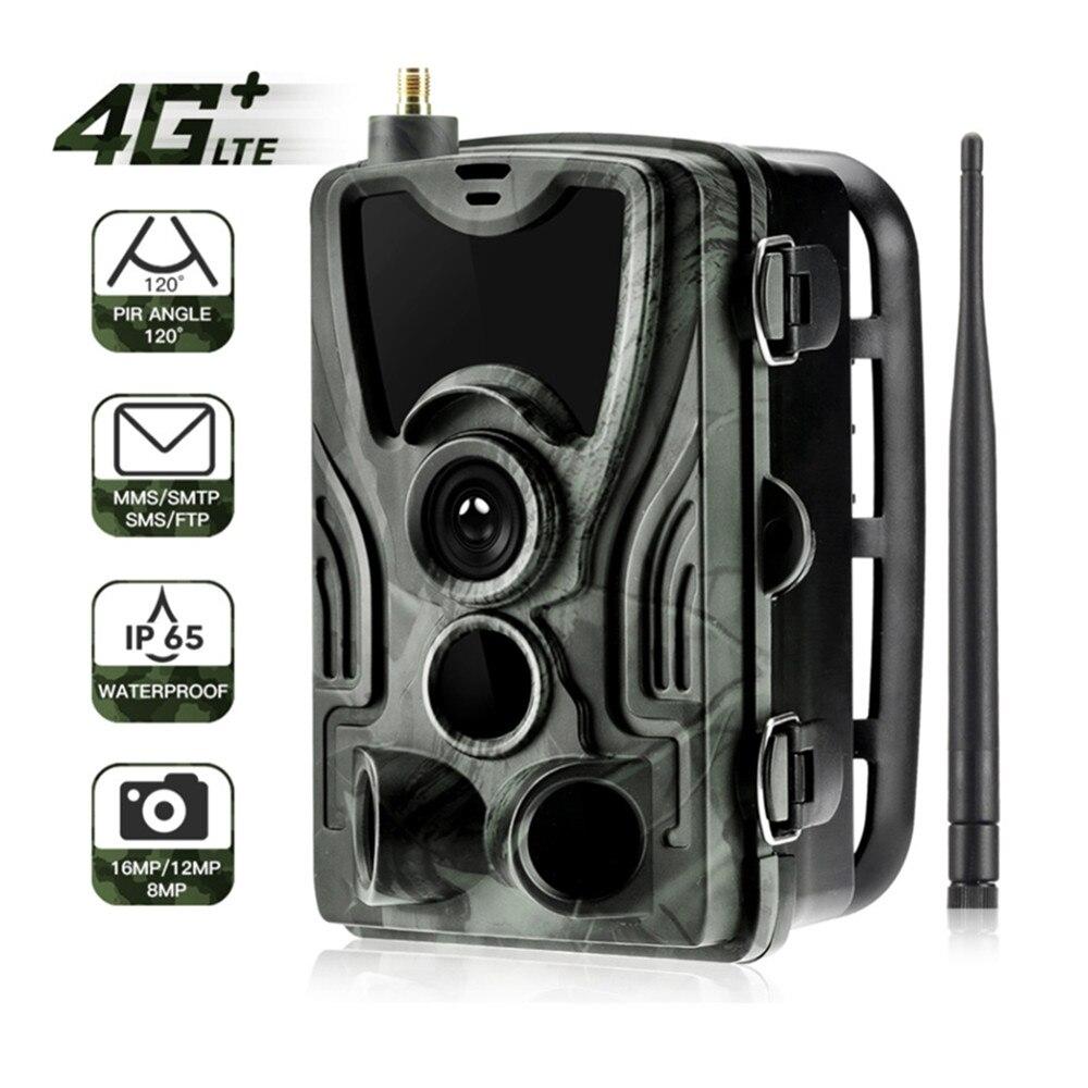 HC-801LTE 3G/4G Vision nocturne caméra de chasse MMS SMS SMTP 16MP HD 1080 P faune Photo piège caméra chasse piste caméras