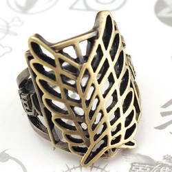 Япония Аниме атака на титановое кольцо бронза Meatl полый костюм аксессуар Косплей сборные кольца подарок