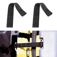 2pcs Car Door Straps New Tough Nylon Webbing Adjustable Limiting PAIR fit for Jeep Wrangler CJ TJ YJ 1955-2006