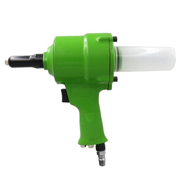 Pneumatic Air Hydraulic Rivet Gun Riveter Industrial Nail Riveting Tool  Riveting Gun Clipper Tool (Green)