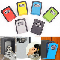Wall Mounted Password Safety Key Box Money Key Hider Security Secret Code Lock Lock
