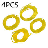 4Pcs/set Plastic Petrol Fuel Line Hose Gas Oil Pipe Tube For Trimmer Chainsaw/Blower Engine Replacement