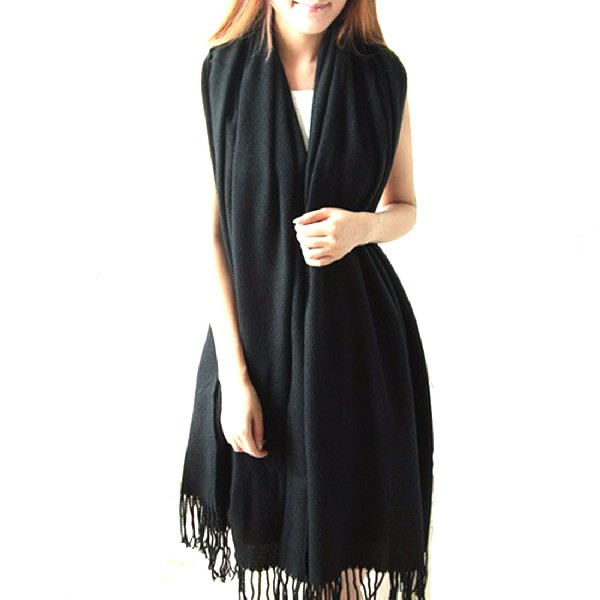 women scarf Best Quality Wool Cashmere Scarf Pashmina Tassels Women Shawl Brand Scarf Unisex Warm Cashmere Tassel Scarf in Women 39 s Scarves from Apparel Accessories