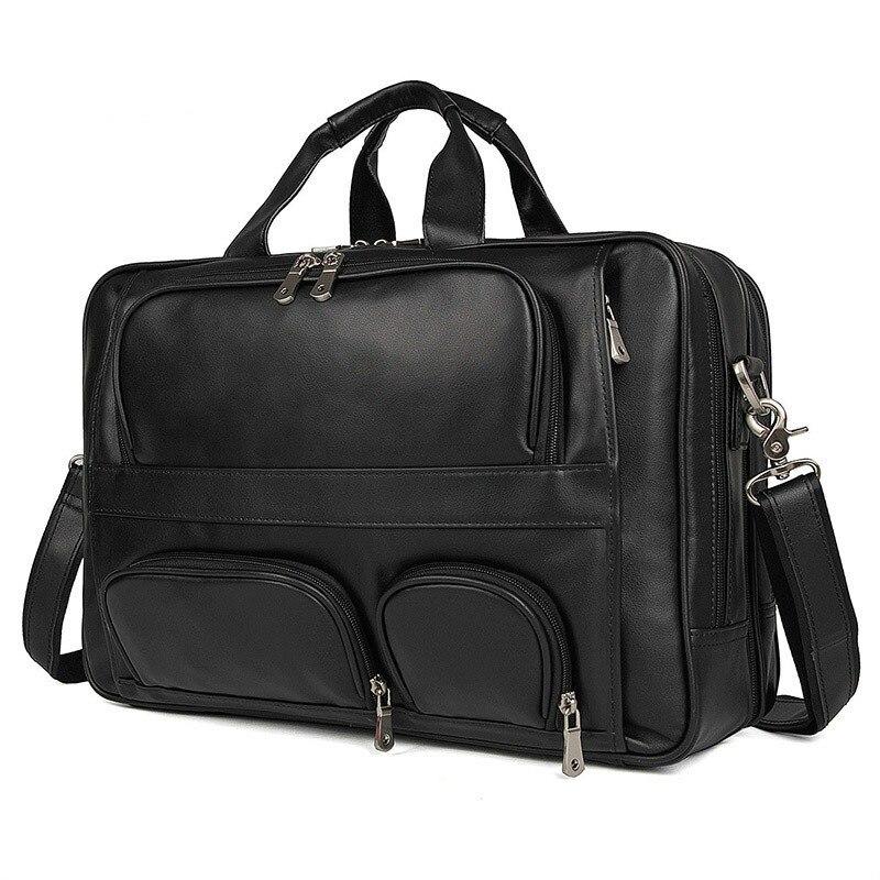 2019 Vintage Mens Cow Genuine Leather Briefcase Messenger Bag 17 Inch Male Laptop Bag Men Business Travel Bag2019 Vintage Mens Cow Genuine Leather Briefcase Messenger Bag 17 Inch Male Laptop Bag Men Business Travel Bag