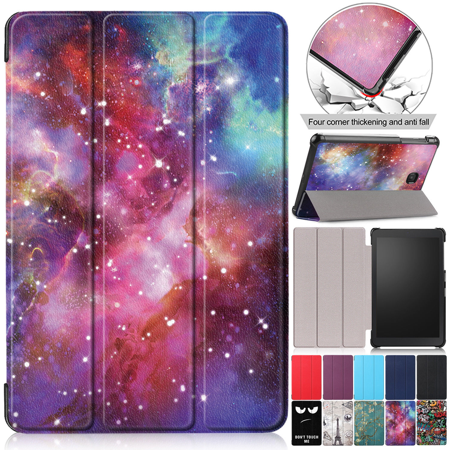 Patterned Leather Case For Samsung Galaxy Tab A 8.0 2018 SM-T387 T387 Cover Fold Shockproof Case For Samsung Tab A 8.0 2018