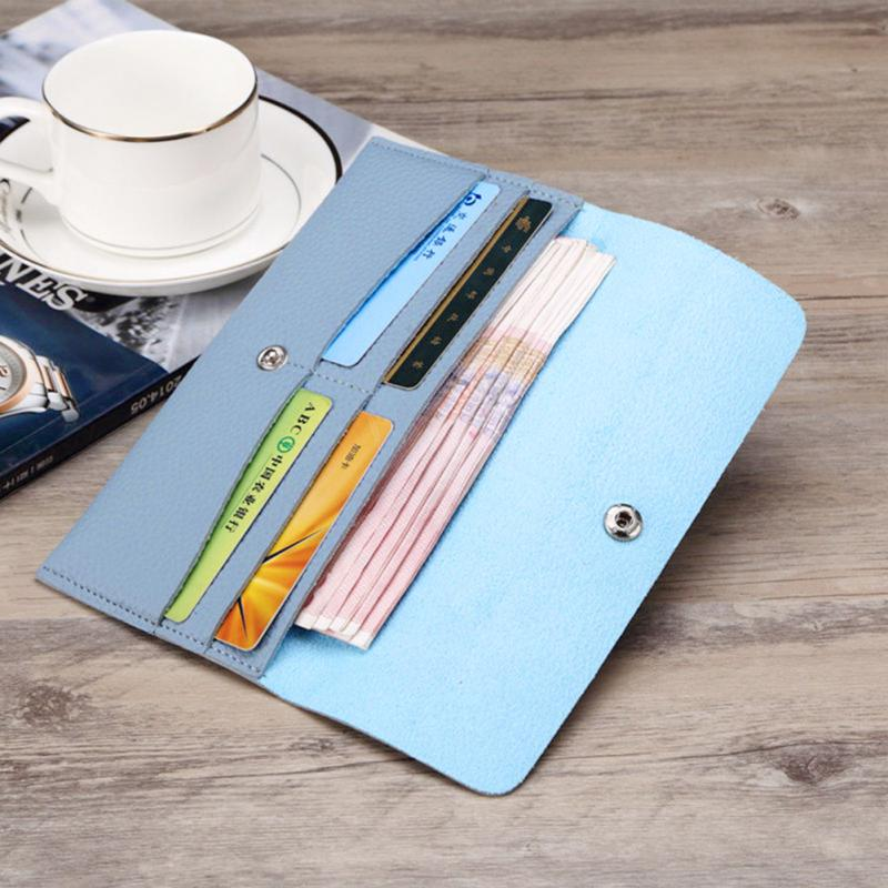 Girl Wallet Slim PU Leather Wallet Women Clutch Bag Lady Phone Cards Holder Candy Color Small Handbag Purse Wallet 5