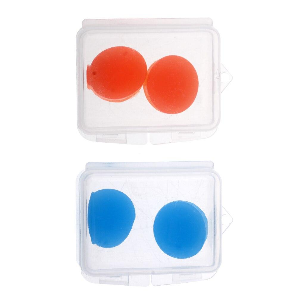 4Pcs Silicone Ear Plugs Soft Protective Putty Earplugs Waterproof Earplugs With Storage Box For Sleeping, Swimming