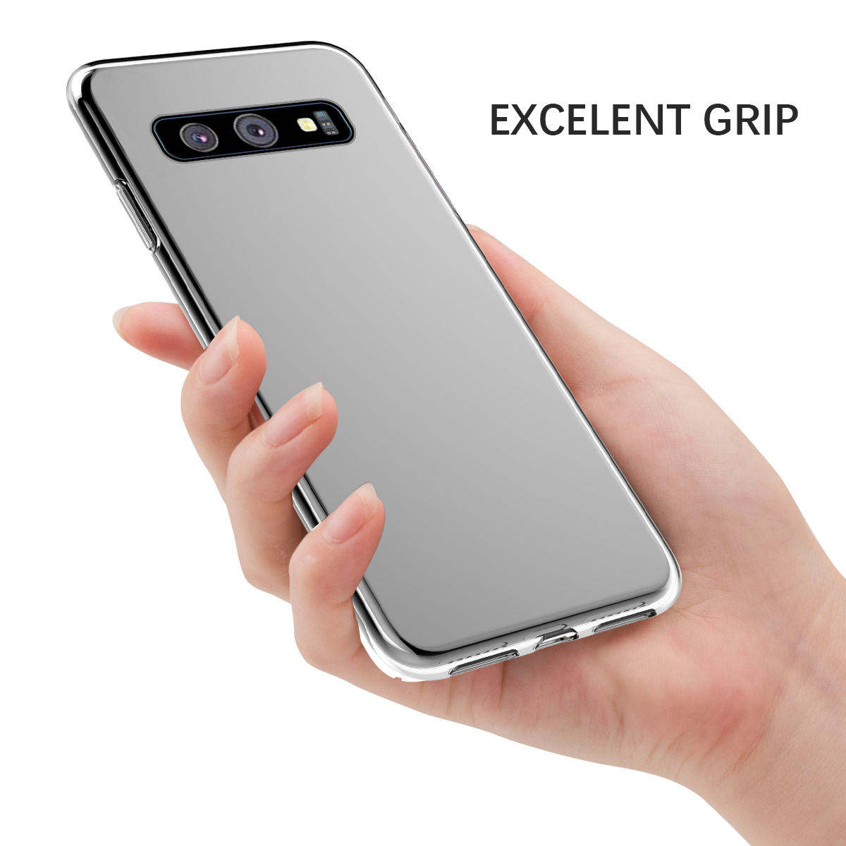 For Samsung Galaxy S10 S10 Plus S10E Case Silicone Transparent Slim Soft TPU Case For Samsung S10 Plus Cover Clear Shockproof in Fitted Cases from Cellphones Telecommunications