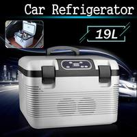 DC12 24V/AC220V Car Refrigerator Freeze heating 19L Fridge Compressor for Car Home Picnic Refrigeration heating 5~65 Degrees
